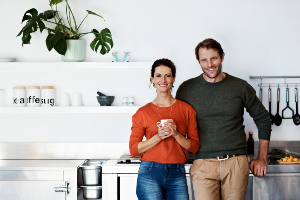 Couple in a modern kitchen